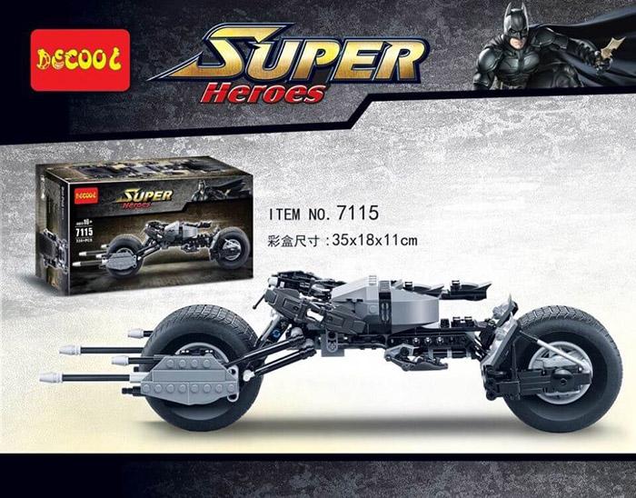 7115 เลโก้จีนโมเดล Batman Pod Bike รถมอเตอร์ไซค์แบทแมน