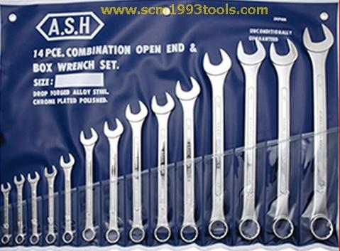 ASAHI อาซาฮี ประแจ แหวนข้างปากตาย 14 ตัวชุด 10-32 มม. ญี่ปุ่น คุณภาพดี Wrench set