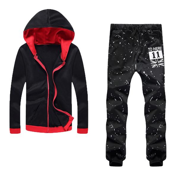 ชุดเซ็ท | เสื้อกันหนาว แขนยาว มี Hood มาพร้อมกับกางเกง แนวสปอต มีให้เลือกหลายสี