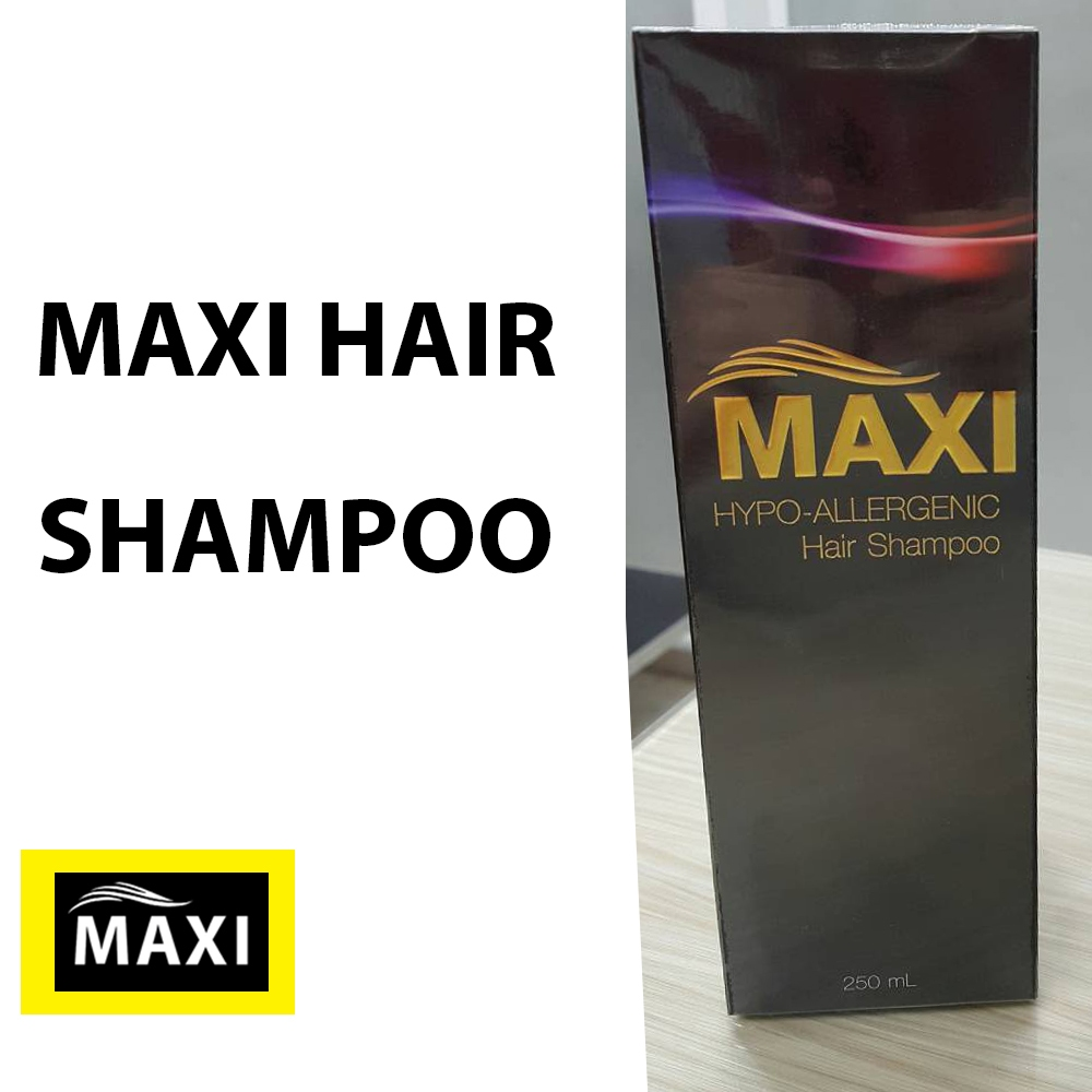 Maxi hair shampoo แชมพู ผมดก