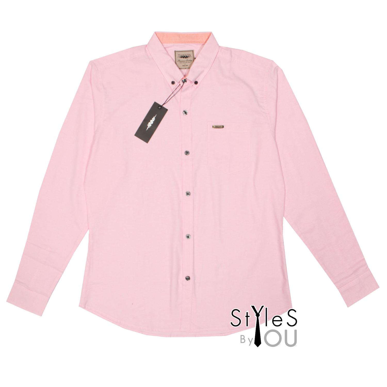 เสื้อเชิ้ต แฟชั่น สีพื้น สีชมพู Pastel Shirt แขนสั้นและแขนยาว