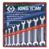KINGTONY คิงโทนี่ 1108SR ประแจปากตาย 8 ตัวชุด 1/4-7/8 นิ้ว European Type Open End Wrench Set