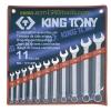 KINGTONY คิงโทนี่ 1211MR ประแจแหวนข้างปากตาย 11 ตัวชุด 8-24 มม. Combination Wrench Set