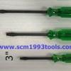 CHAMPION แชมเปี้ยน ไขควงแกนดำทะลุ ปากแบน 3-4-5 นิ้ว ของแท้ ญี่ปุ่น screwdriver