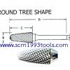 เหล็กเจียรแม่พิมพ์ คาไบด์ SF-Type ทรง Round-Tree Shape ยี่ห้อ TAGBUR ญี่ปุ่น คุณภาพดี