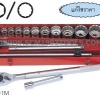 KOKEN-6201HM บล็อกชุด 16 ชิ้น (มิล) ในกล่องเหล็ก ลูกบ๊อก 6p-12p SOCKET SET