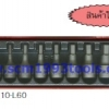 KOKEN-4012M/10-L60 บ็อกชุด บล็อกเดือยโผล่ 10 ชิ้น (มิล) ในกล่องเหล็ก SOCKET SET