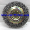 GEM-117 แปรงลวดกลม ลวดเหล็ก 8 นิ้ว x หนา 5/8 นิ้ว Steel Wire Wheel Brush-Crimped Fill Material