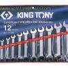 KINGTONY คิงโทนี่ 1112MR ประแจปากตาย 12 ตัวชุด 6-32 มม. European Type Open End Wrench Set