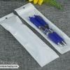 ถุงซิปล็อคก้นแบน หน้าใส หลังขาว ขนาด 6 x 21.5 cm