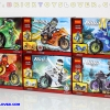 10017-22 มินิฟิกเกอร์ Ninja Tornado Motercycle เซ็ต 6 กล่อง