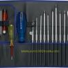 PB Swiss Tool พีบีสวิสทูล รุ่น PB9515 Blue ไขควงชุดใหญ่ 31 ชิ้น ด้ามสีีน้ำเงิน บรรจุซองหนัง Screwdriver Set