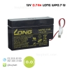 แบตเตอรี่แห้ง 12V 0.7Ah WP0.7-12 LONG Battery Lead Acid SLA VRLA AGM