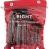 EIGHT ชุดประแจตัวแอล สั้น หัวหกเหลี่ยม 5/64 นิ้ว-1/2 นิ้ว HEX key wrench set