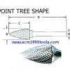 เหล็กเจียรแม่พิมพ์ คาไบด์ SG-Type ทรง Point-Tree Shape ยี่ห้อ TAGBUR ญี่ปุ่น คุณภาพดี