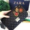 Zara Quilted Patches Cross Body Bag กระเป๋าสะพายหนังแกะสังเคราะห์หนังนิ่มลายตาราง / พร้อมส่ง