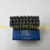 BRP เหล็กตอกตัวหนังสือ A-Z 1.5 มม. เหล็กตอกตัวอักษร 1.5 mm. Steel Character Stamper