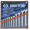KINGTONY คิงโทนี่ 1211SR01 ประแจแหวนข้างปากตาย 11 ตัวชุด 1/4-1 นิ้ว Combination Wrench Set