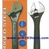 META เมต้า ประแจเลื่อน รุ่นสเปน มีที่วัดขนาด มม. นิ้ว adjustable wrench