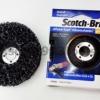 3M SCOTCH-BRITE Clean'n-Strip ใบขัด สก็อตไบรต์ ลูกขัดลอกสีสนิม รุ่น จานขัด 4.5 นิ้ว สำหรับ เครื่องขัดลม