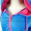 (ภาพจริง) เสื้อคลุม แขนยาว ผ้าฝ้าย มีฮูด กระเป๋าหน้า สีฟ้า -- พร้อมส่ง