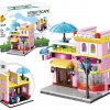 657007 Mini City StreetScape ของเล่นตัวต่อร้านไอศครีมเจลาโต Gelateria
