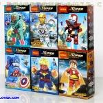 0244-49 มินิฟิกเกอร์ Iron man และฮีโร่ MARVEL เซ็ต 6 กล่อง