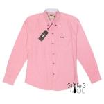เสื้อเชิ้ต แฟชั่น สีพื้น สีชมพูเข้ม Pastel Shirt แขนสั้นและแขนยาว