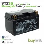 แบตเตอรี่มอไซค์ แบตเตอรี่ มอเตอร์ไซค์ ราคา YUASA YTZ10 12V 9.1Ah ของไทย