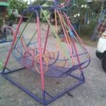 รหัส PG ผลงานติดตั้ง (โรงเรียนบ้านทุ่งถ้ำ-อำเภอท่าสองยาง จ.ตาก) เครื่องเล่นสนามกลางแจ้งสำหรับเด็ก