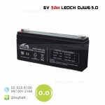 แบตเตอรี่แห้ง 6V 5.2Ah DJW6-5.0 LEOCH Battery Lead Acid SLA VRLA AGM