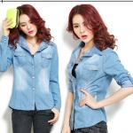 เสื้อยีนส์นำเข้าสไตล์เกาหลี Size XL