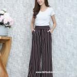 กางเกงแฟชั่น ขนาด Free size ผลิตจากผ้า ฮานาโก๊ะ ส่งฟรี!!