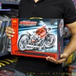 3354 ตัวต่อ Technic รถ Motorcycle Exploiture ทรงคัสทอมสีแดง
