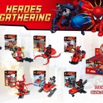 79262 มินิฟิกเกอร์ Spider-man กับ Deadpool มาพร้อมกับยาน เซ็ต 8 กล่อง