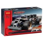 3417 ตัวต่อ King Steerer รถแข่งสีดำ Getaway Racer
