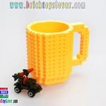 BM007 แก้วน้ำพลาสติกเลโก้ ขนาด 350 มิลลิลิตร สีเหลือง
