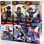 0205-10 ตัวต่อ Mini Figures ทีม Avengers เซ็ต 6 กล่อง