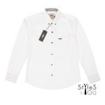 เสื้อเชิ้ต แฟชั่น สีพื้น สีขาว Pastel Shirt แขนสั้นและแขนยาว