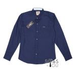 เสื้อเชิ้ต แฟชั่น สีพื้น สีกรมท่า Pastel Shirt แขนสั้นและแขนยาว
