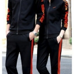 ชุดเซ็ท | กางเกงขายาว+เสื้อแขนยาว Style สปอต | ดำแดง