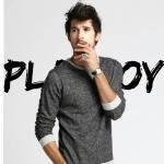 เสื้อแขนยาว ผ้ายีนส์ แขนยาวคอกลม ยี่ห้อ Playboy ใส่ลำลองหรือใส่กันหนาวก็ได้