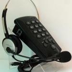 โทรศัพท์ + ชุดหูฟัง Call Center Headset รุ่น T-800