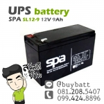 แบตเตอรี่แห้ง 12V 9Ah SL12-9 SPA Battery Lead Acid SLA VRLA AGM