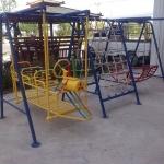 รหัส PG ผลงานติดตั้ง (โรงเรียนเจนอยุธยา-ตำบลคลองสวนพลู อำเภอพระนครศรีอยุธยา) เครื่องออกกำลังกายเด็ก