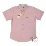 เสื้อเชิ้ต แฟชั่น สีพื้น สีแดงท็อปดราย Pastel Shirt แขนสั้นและแขนยาว