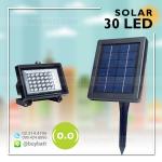 สปอตไลท์ ไฟแอลอีดี โซล่าเซลล์ LED Solar Cell 30 LED รุ่น 30A แสงสีขาว White