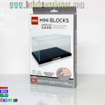 663 Display Case ขนาดกลางแบบฐานชั้นเดียวสีดำ สำหรับใส่ตัวต่อมินิบล็อก