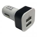 หัวแปลง USB ที่ชาร์ตไฟในรถยนต์ Dual Port-White