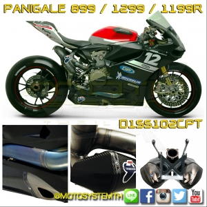 Ducati Panigale 899/1199/1299's Exhaust Titanium/Carbon by Termignoni